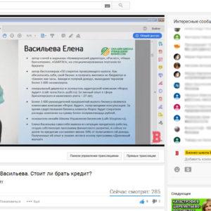 Елена Васильева провела открытый (бесплатный) вебинар на площадке БИЗНЕС ИНСАЙТ