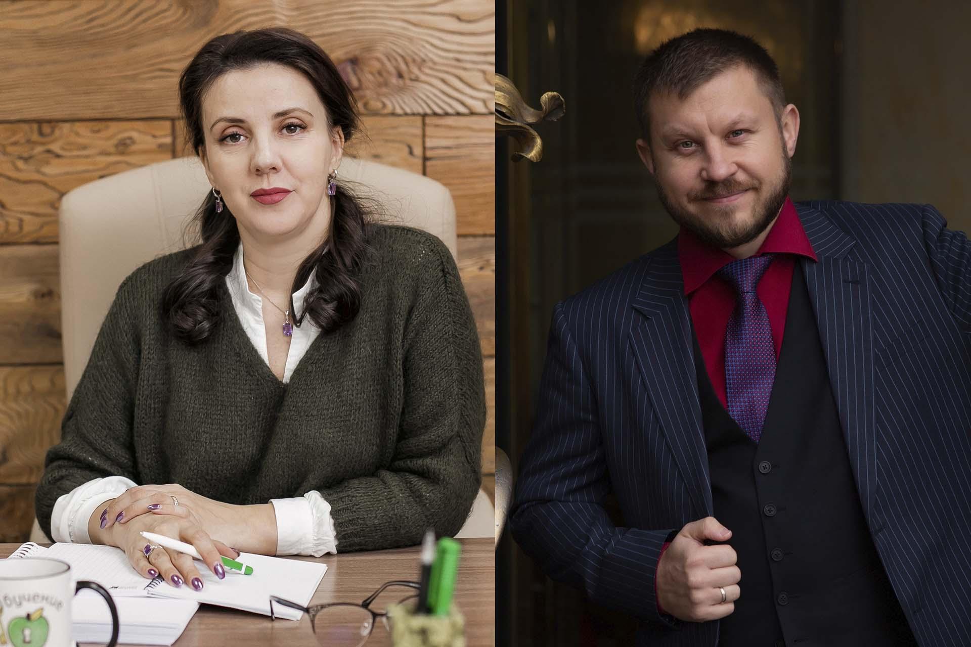Оксана Дажун и Михаил Старостин